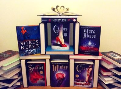A Palace of Books in honour of my queen @marissameyerauthor who finally got Instagram!  #WinRenegades #bookstagram ••• #thelunarchronicals #cinder #scarlet #cress #winter #starsabove #fairest #wiresandnerve #heartless #marissameyer #ya