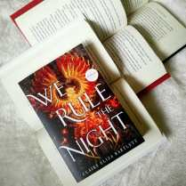 Q: What will be your final read of April? If everything goes according to plan, I should be able to squeeze in one more book before the end of the month. I'm hoping to get to We Rule the Night by Claire Eliza Bartlett which was published at the beginning of April so it's fitting I should read it in its debut month! The cover is so stunning I hope the inside it much the same! #WeRuletheNight #ClaireElizaBartlett #LittleBrownBooks #yabooks #books #reader #bookishcanadians #scifi #fantasy #youngadultbooks #igbooks #bookstagramer #aprilreads #mysisterisfinallydoneschool #iaskedherforahashtagandthatswhatcametohermind #todaywasherfinaldayofschoolforreal